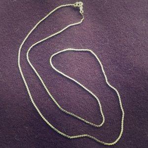 Vintage 14K Gold Serpentine Chain Necklace
